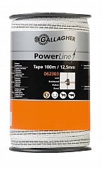 Gallagher Powerline Lint 12.5mm Wit 100m