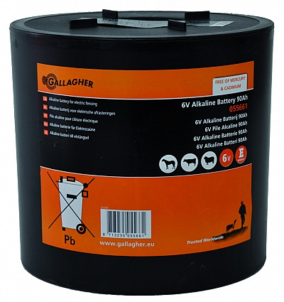 Gallagher Ronde batterij 6V alkaline 90ah